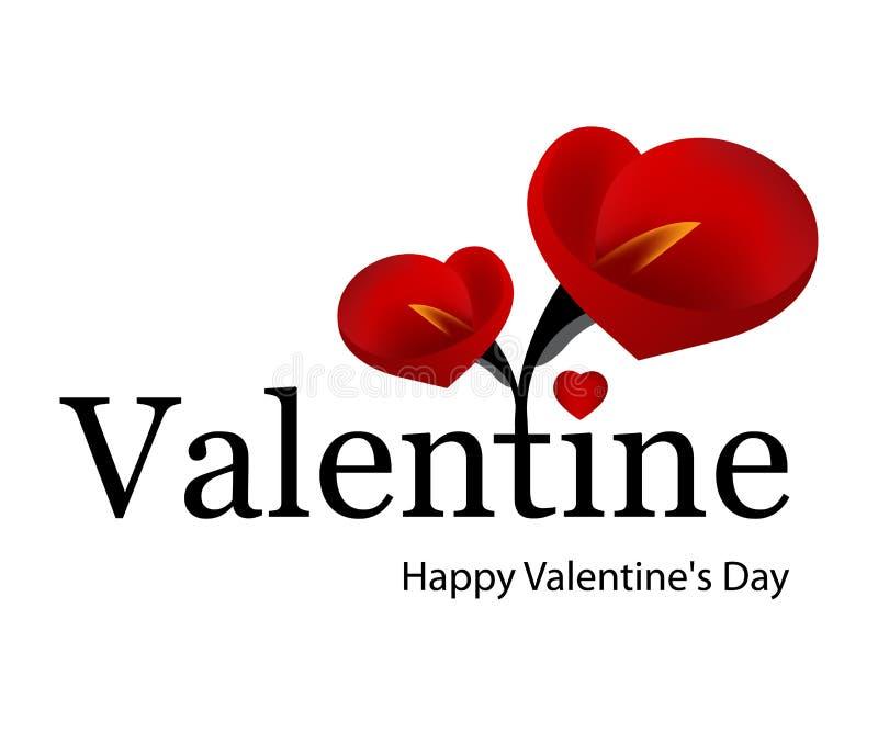 Giorno 01 del biglietto di S. Valentino illustrazione di stock