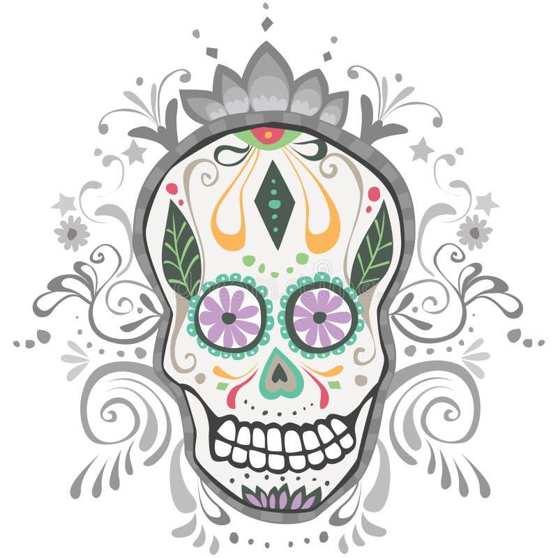 Giorno decorato del cranio guasto dello zucchero