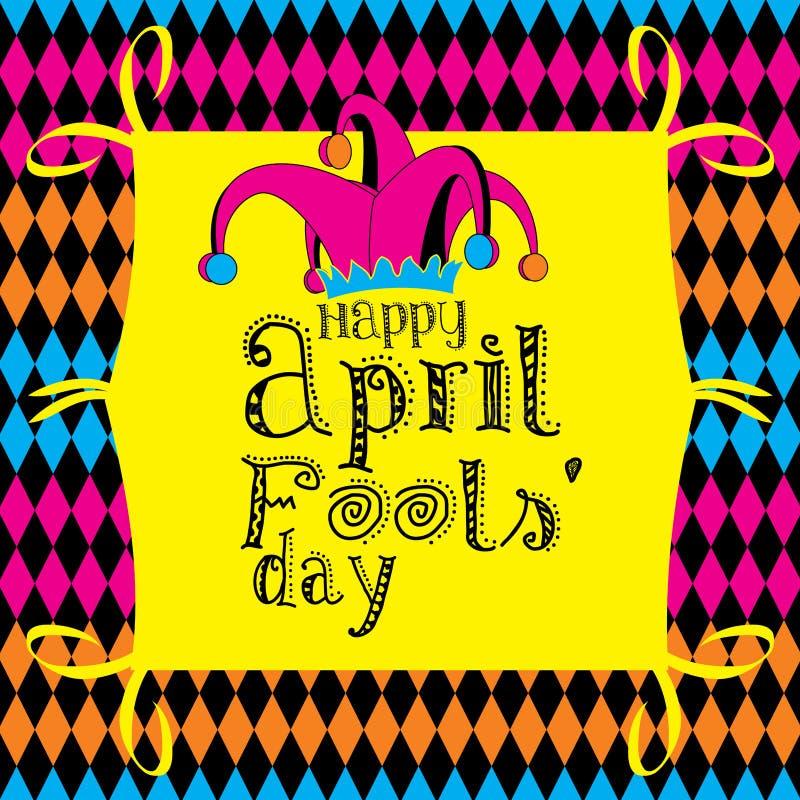 Giorno degli sciocchi di aprile illustrazione vettoriale