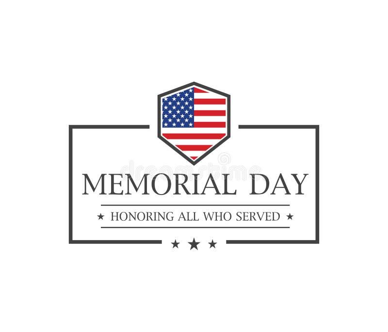 Giorno dei Caduti Onorando tutti che serviscano il testo Vettore royalty illustrazione gratis