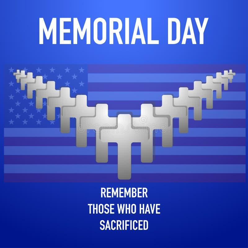 Giorno dei Caduti ricordare e onorare i nostri eroi illustrazione vettoriale
