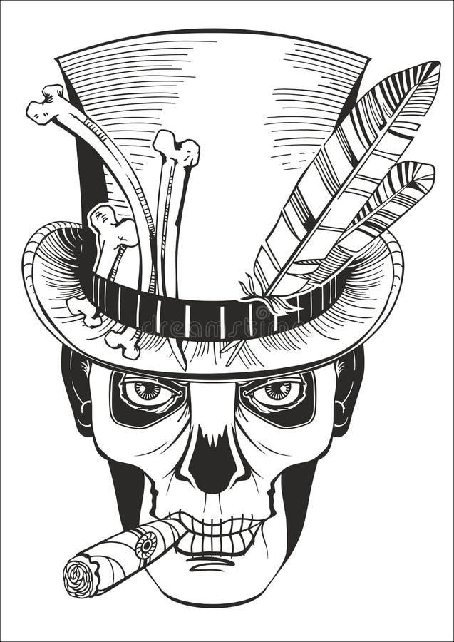 Giorno dei morti, disegno di samedi di barone royalty illustrazione gratis