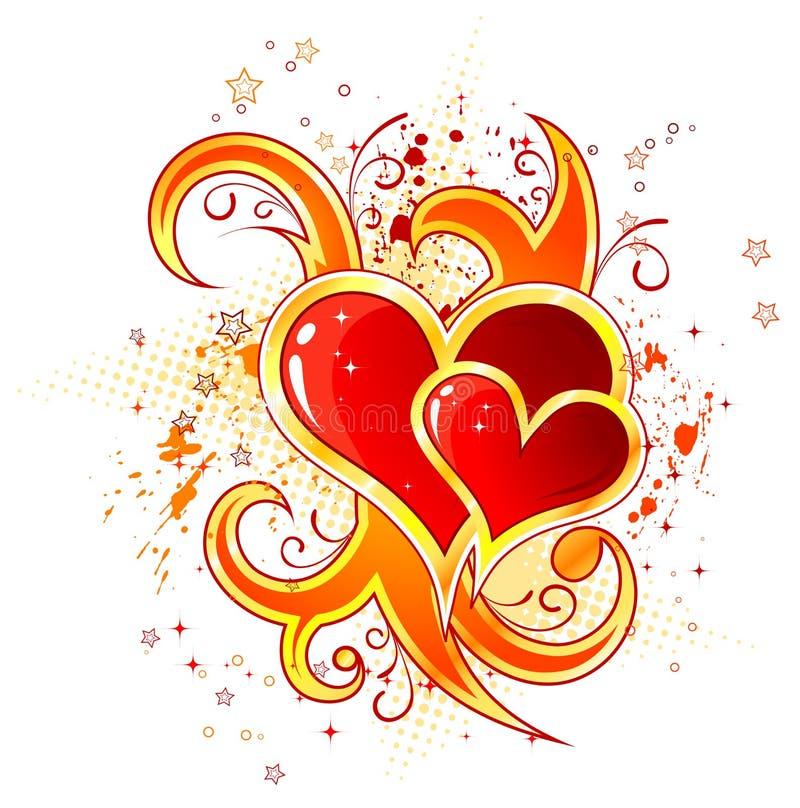 Giorno del biglietto di S. Valentino illustrazione di stock