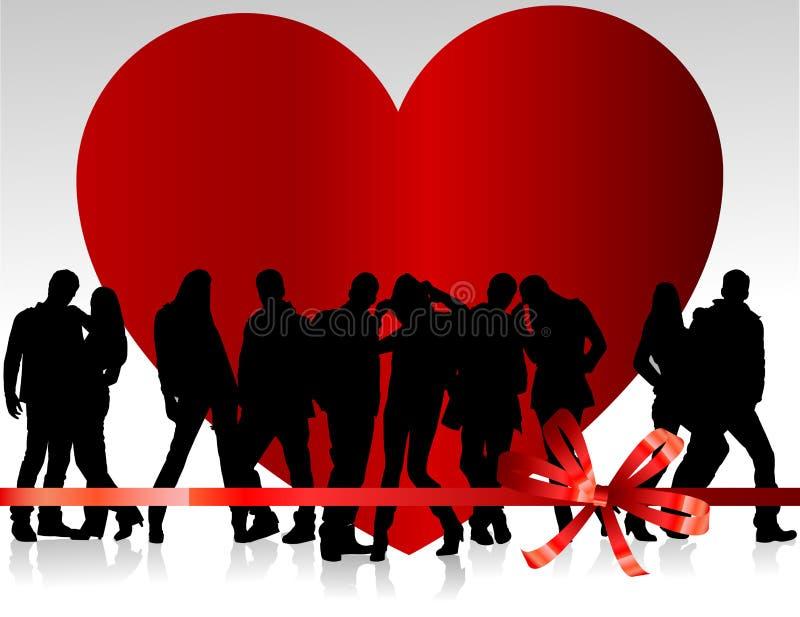 Giorno del biglietto di S. Valentino della priorità bassa illustrazione di stock