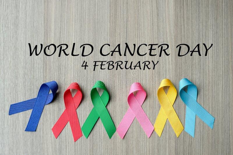 Giorno del cancro del mondo fotografia stock libera da diritti