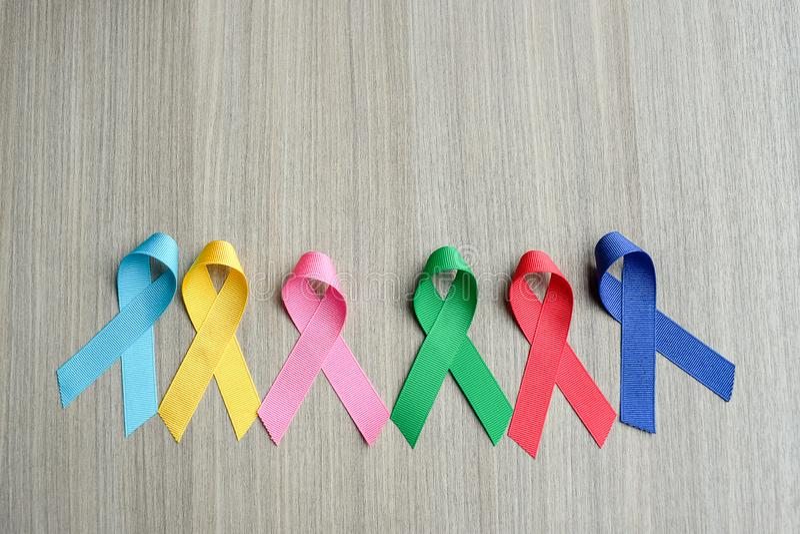 Giorno del cancro del mondo fotografie stock libere da diritti