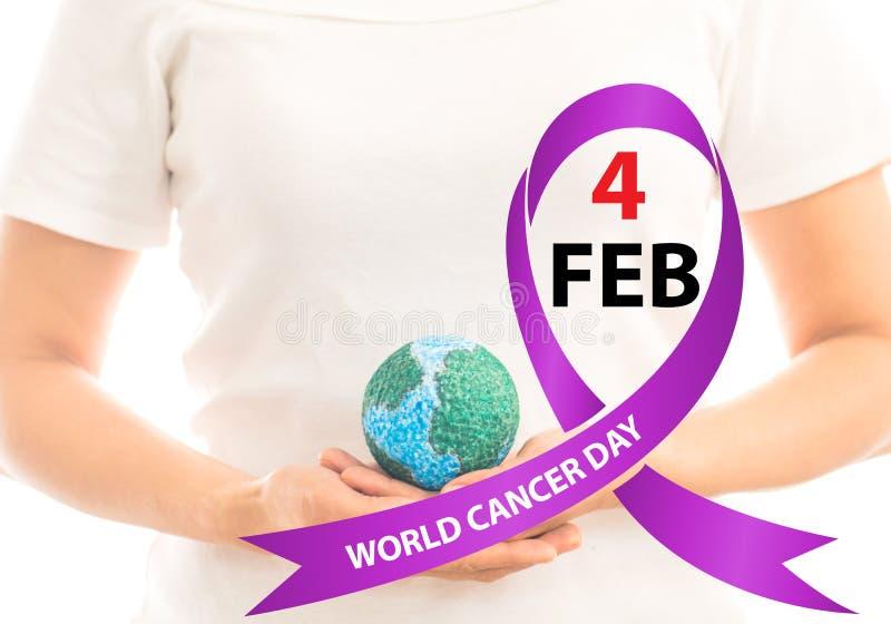 Giorno del cancro del mondo immagine stock libera da diritti