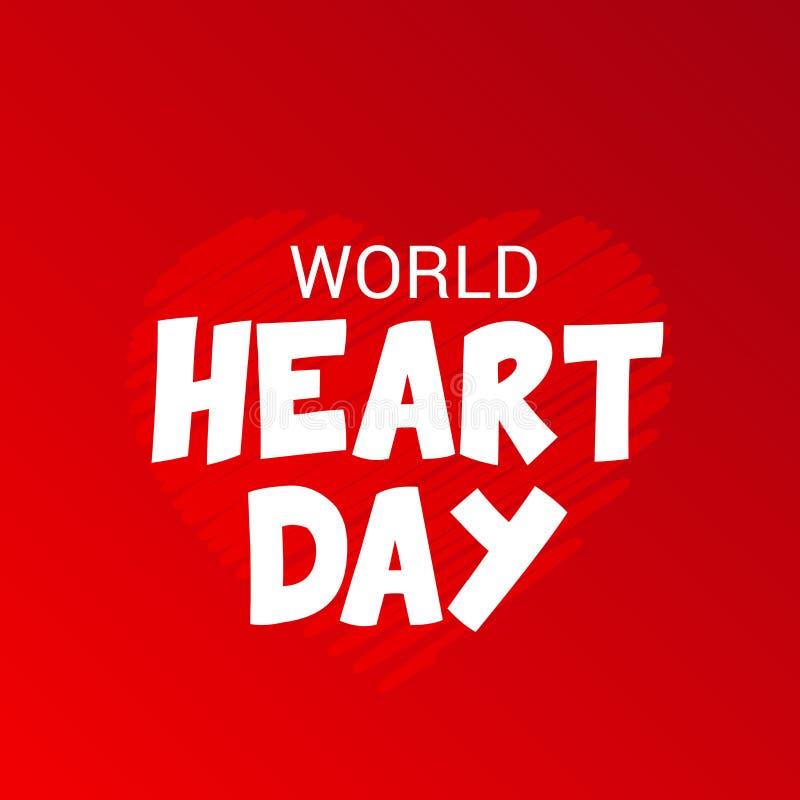 Giorno del cuore del mondo illustrazione di stock