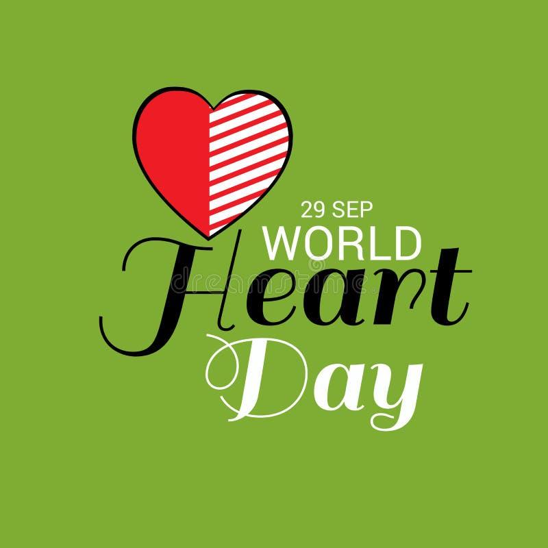 Giorno del cuore del mondo illustrazione vettoriale