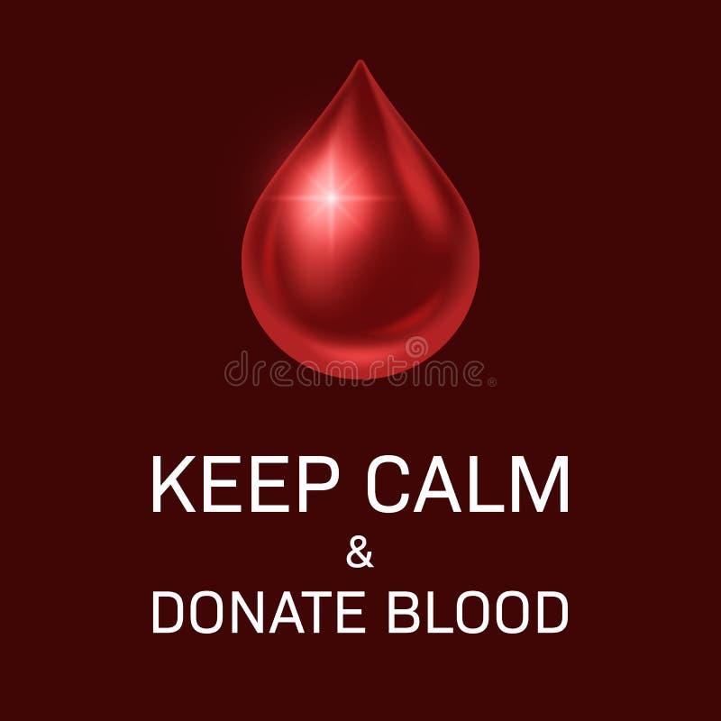 Giorno del donatore di sangue royalty illustrazione gratis