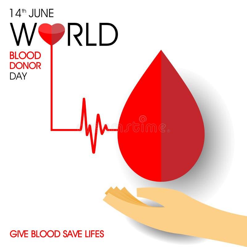 Giorno del donatore di sangue del mondo illustrazione di stock