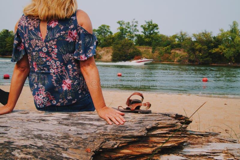 Giorno del lago fotografia stock