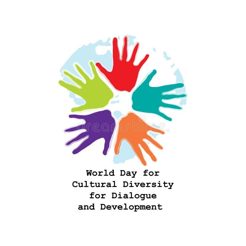 Giorno del mondo per diversit? culturale per il dialogo e lo sviluppo illustrazione di stock