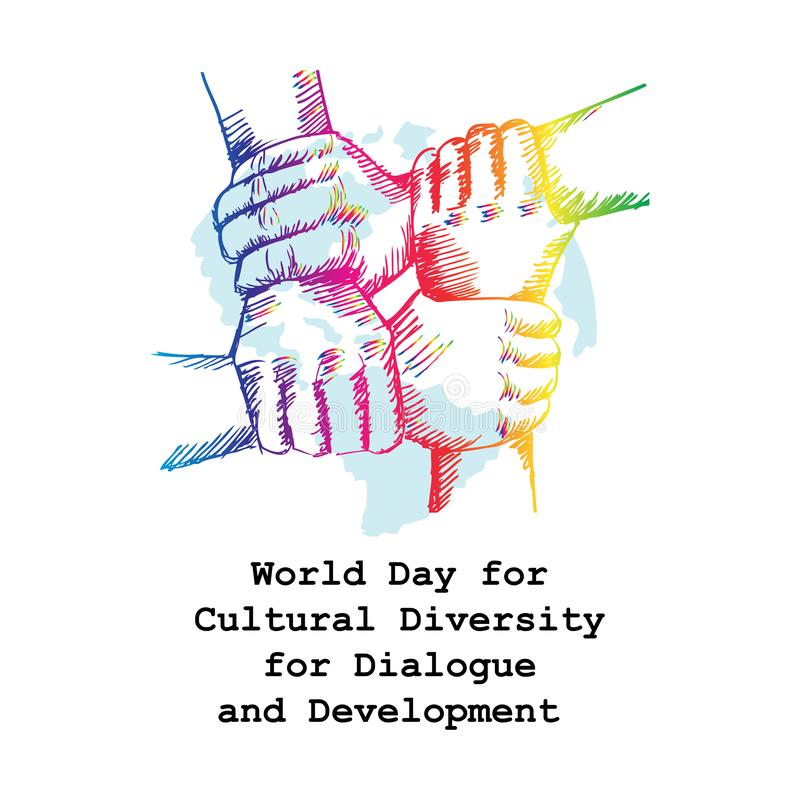 Giorno del mondo per diversit? culturale per il dialogo e lo sviluppo royalty illustrazione gratis