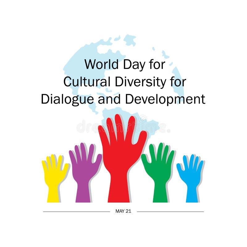 Giorno del mondo per diversit? culturale per il dialogo e lo sviluppo illustrazione vettoriale