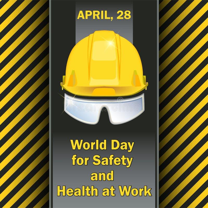 Giorno del mondo per sicurezza e salubrità sul lavoro immagine stock