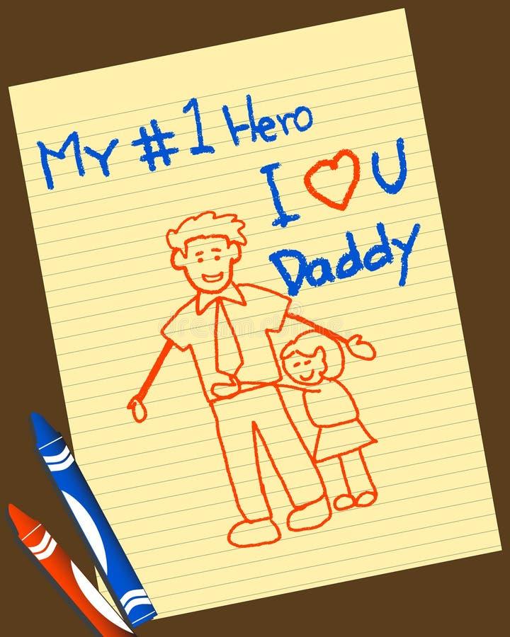 Giorno del padre royalty illustrazione gratis
