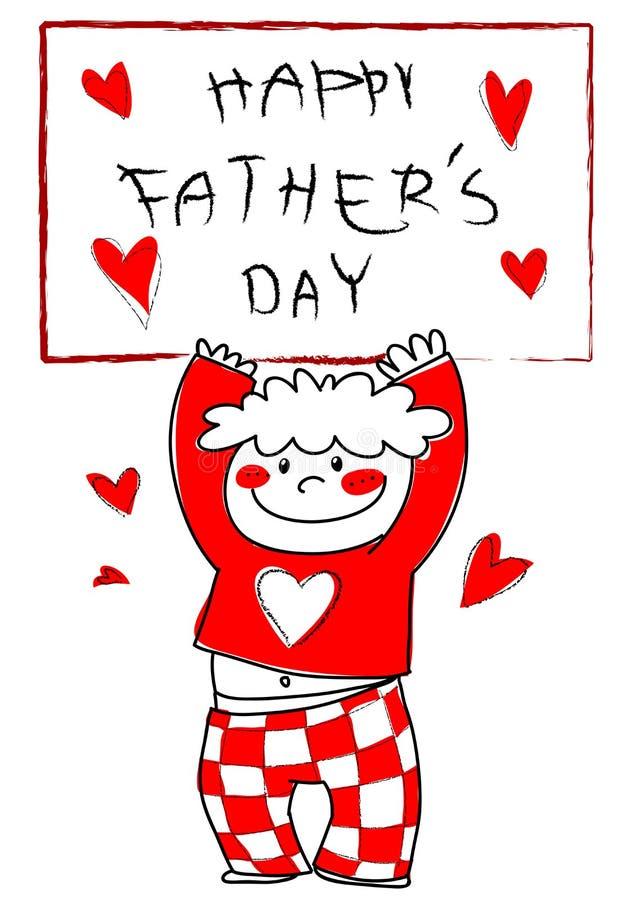 Giorno del padre felice! illustrazione vettoriale