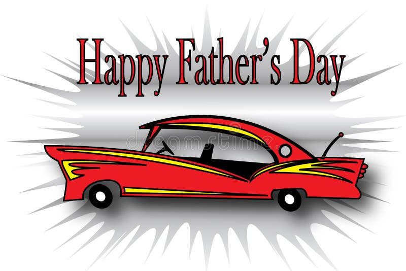 Giorno del padre felice - automobile illustrazione vettoriale