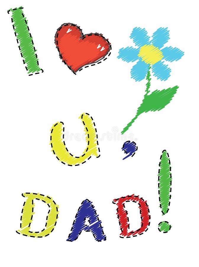 Giorno del papà illustrazione vettoriale
