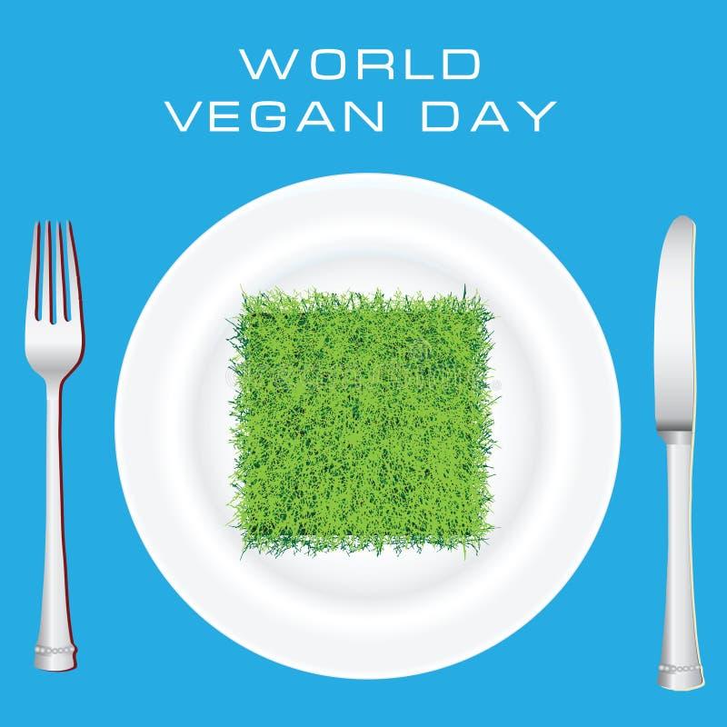 Giorno del vegano del mondo royalty illustrazione gratis