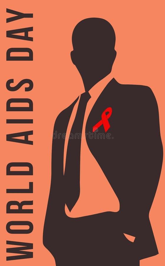 Giorno dell'AIDS e memoriale illustrazione di stock