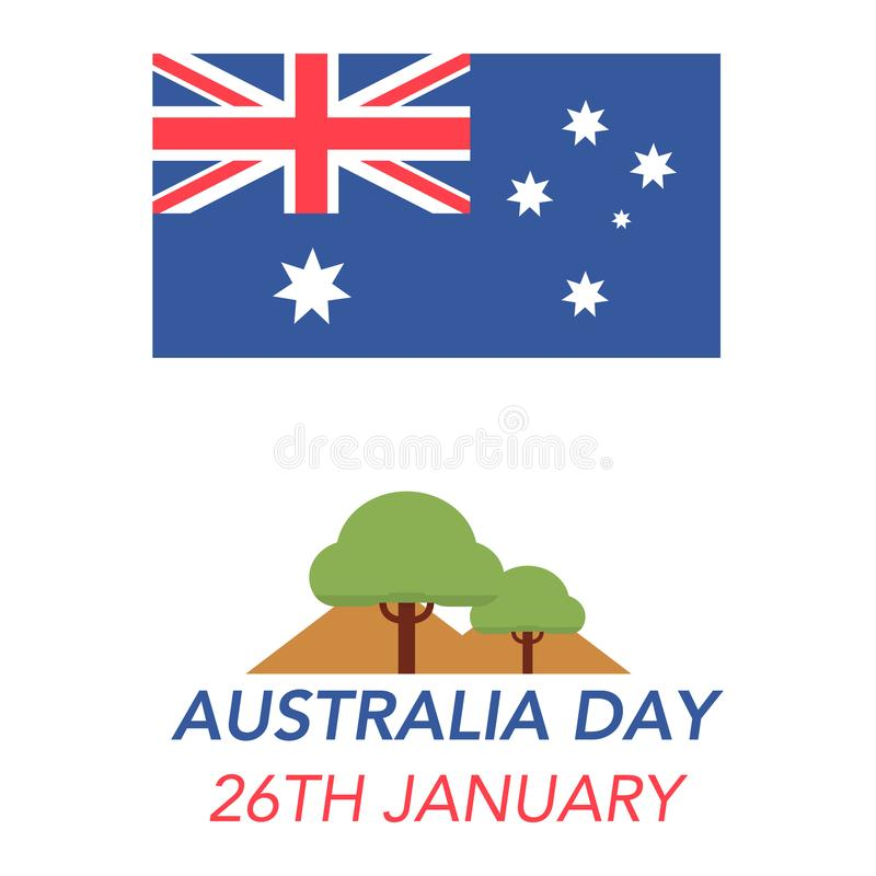 Giorno dell'Australia il 26 gennaio fotografia stock libera da diritti
