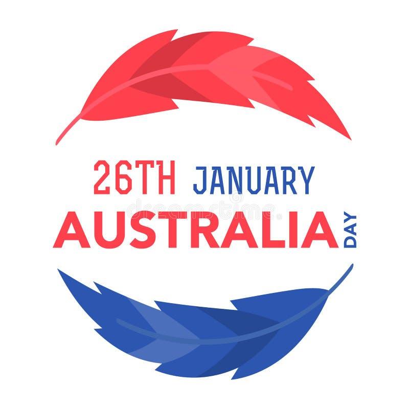 Giorno dell'Australia il 26 gennaio fotografie stock libere da diritti