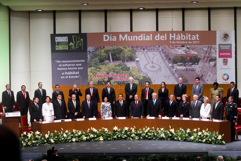 Giorno dell'habitat del mondo in Aguascalientes, Messico fotografia stock libera da diritti