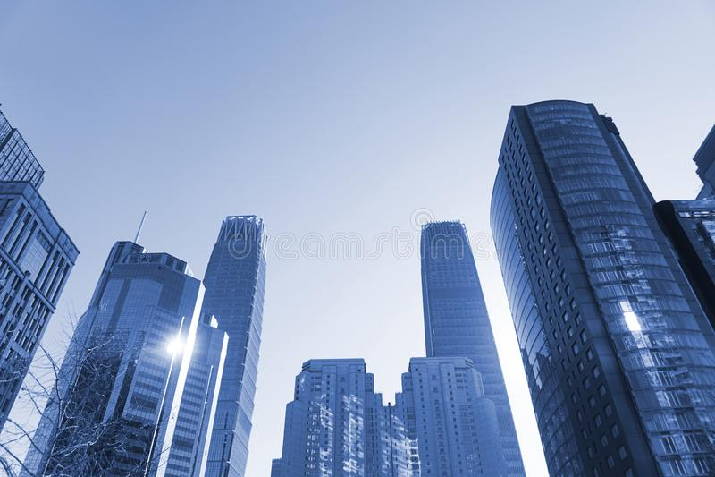 Giorno dell'orizzonte di Pechino fotografia stock