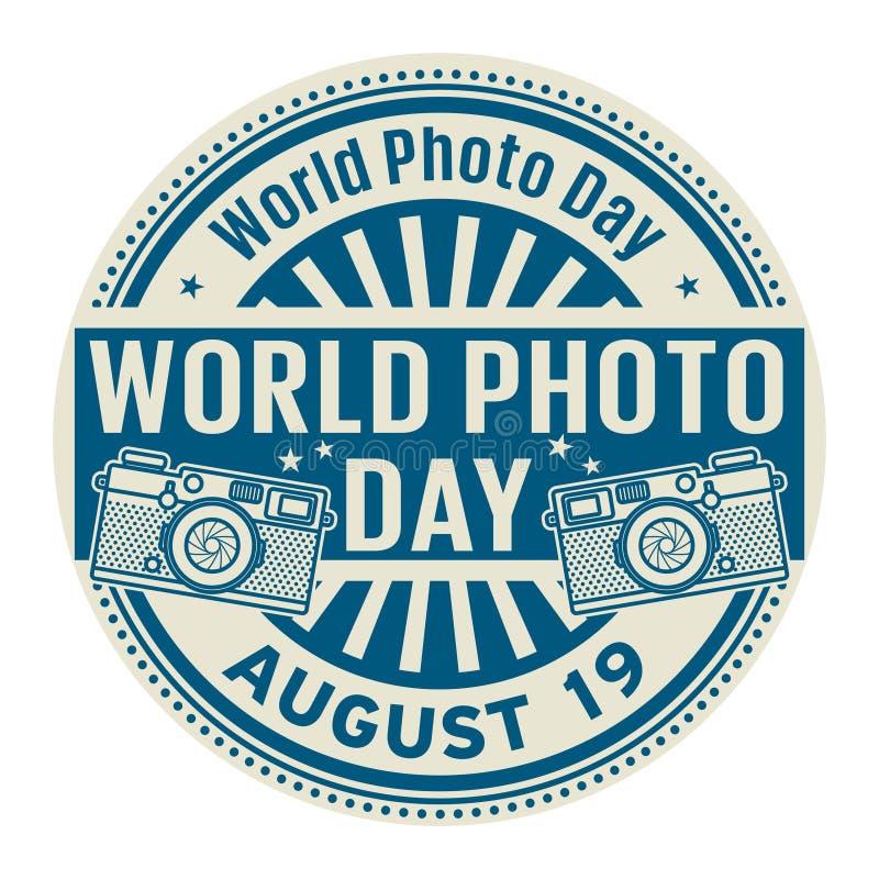 Giorno della foto del mondo, timbro di gomma astratto royalty illustrazione gratis