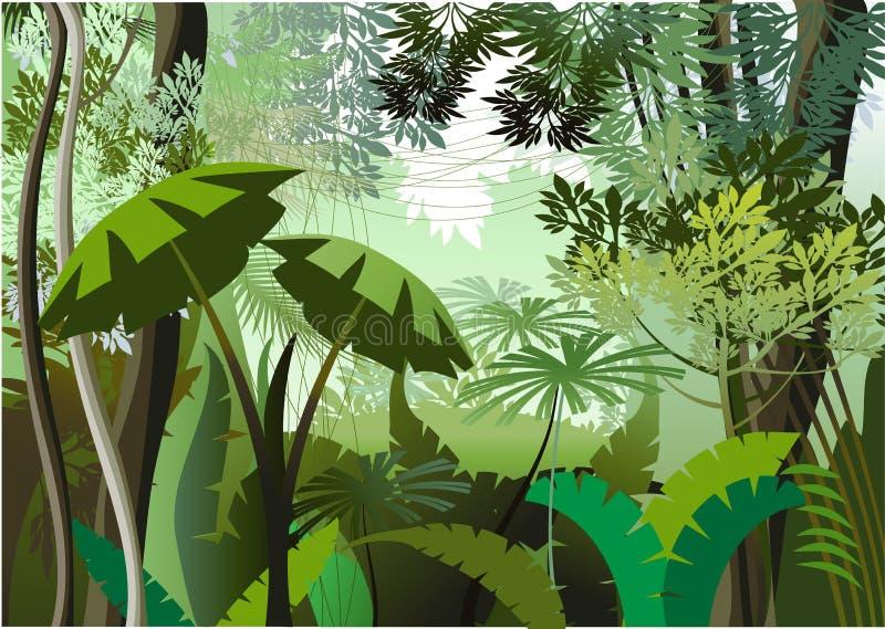 Giorno della giungla royalty illustrazione gratis