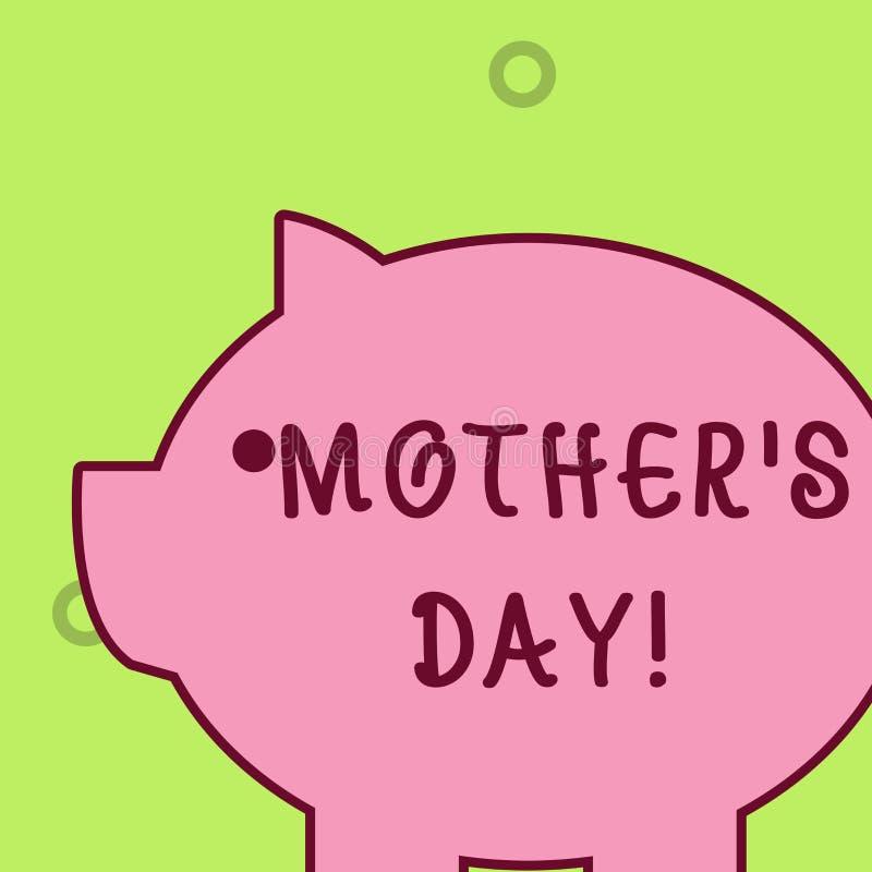 Giorno della madre S di scrittura del testo della scrittura Giorno di significato di concetto dell'anno dove le madri sono onorat illustrazione vettoriale