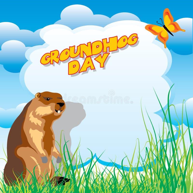 Giorno della marmotta illustrazione vettoriale