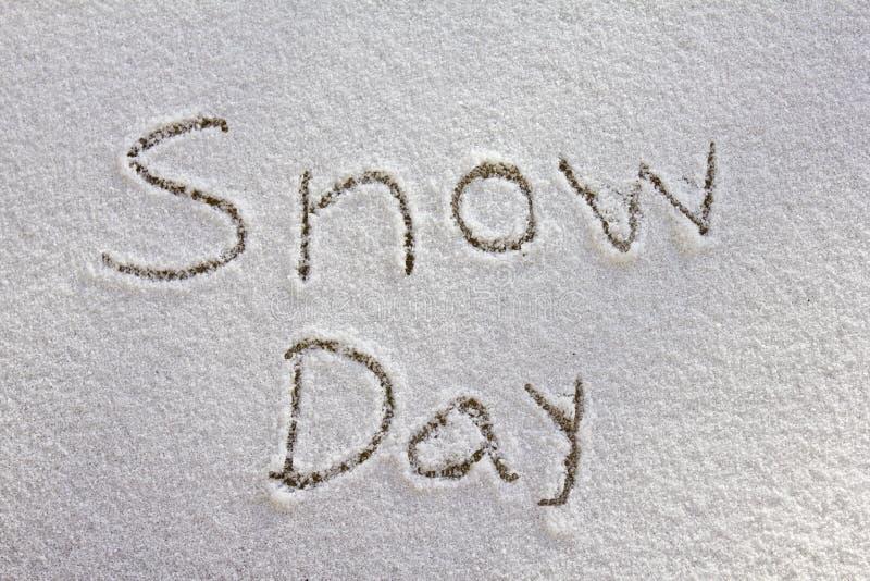 Giorno della neve fotografie stock