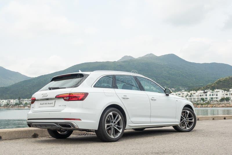 Giorno della prova su strada di Audi A4 Avant 40 immagine stock libera da diritti