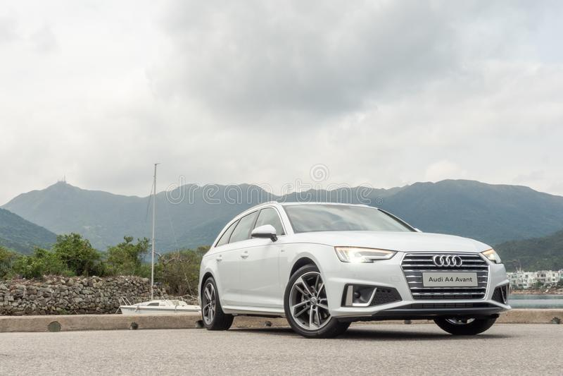 Giorno della prova su strada di Audi A4 Avant 40 immagine stock