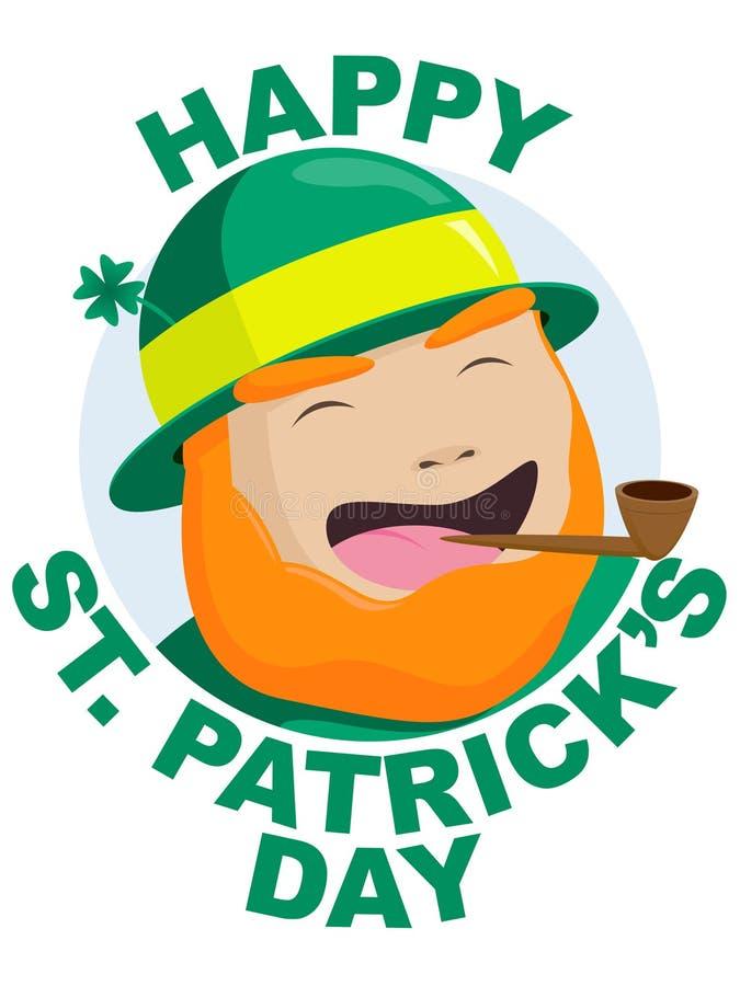 Giorno della st Patrick felice illustrazione vettoriale