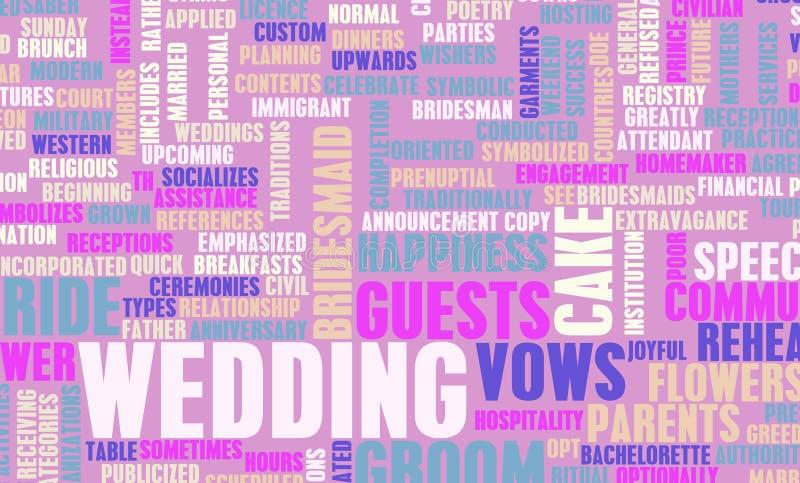 Giorno delle nozze illustrazione di stock