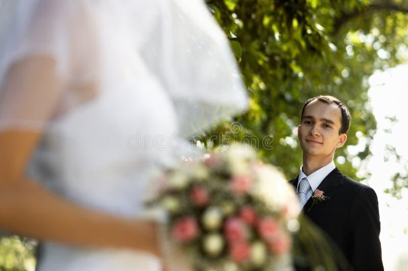 Giorno delle nozze felice fotografie stock