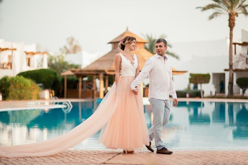Giorno delle nozze nell'Egitto all'hotel fotografia stock libera da diritti