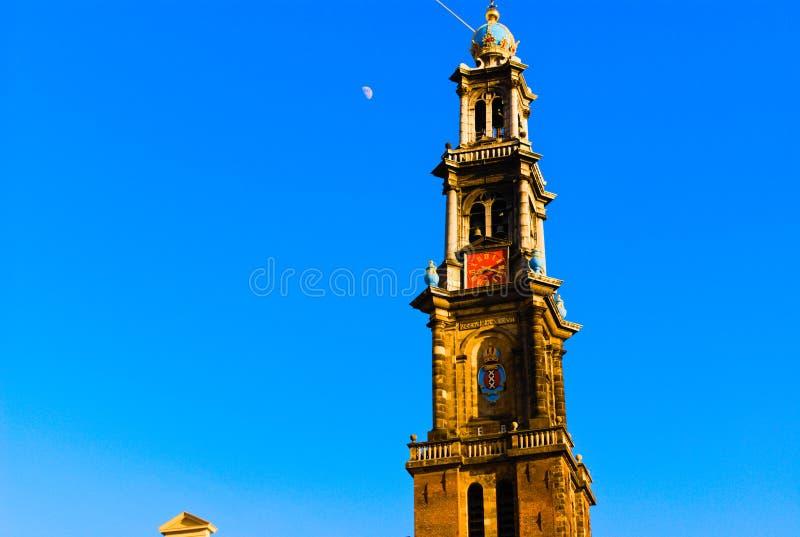giorno di Amsterdam della chiesa del wester fotografia stock