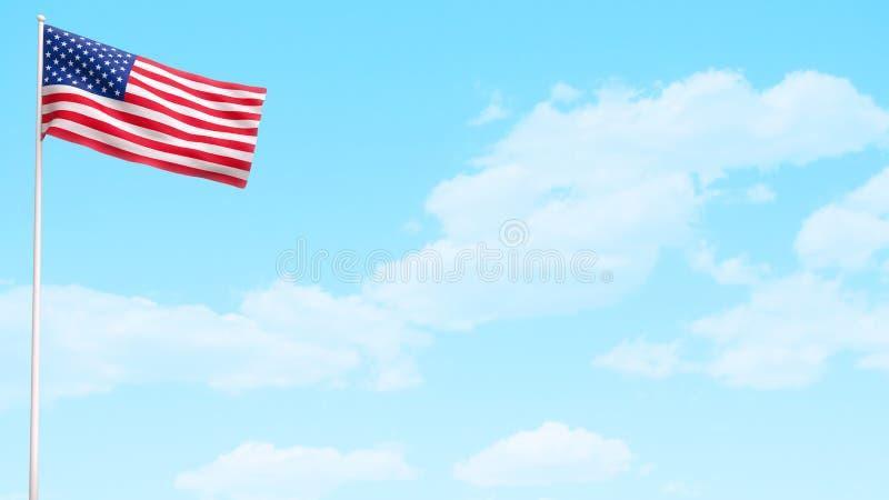 Giorno di bandiera americana di U.S.A. royalty illustrazione gratis