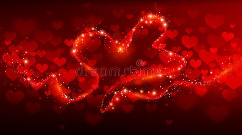 Giorno di biglietti di S. Valentino del fondo illustrazione vettoriale