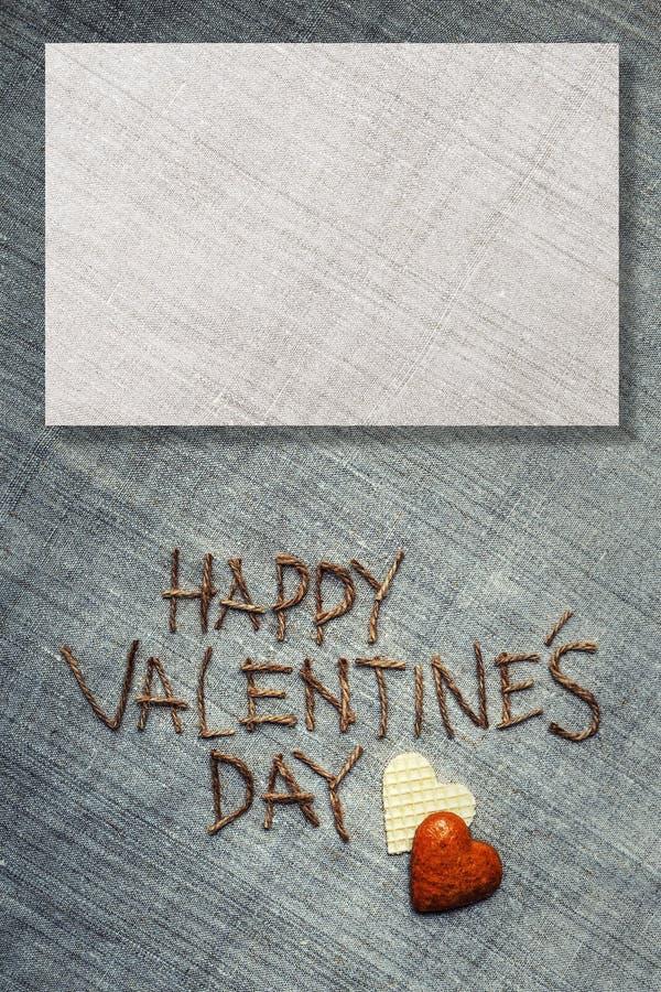 Giorno di biglietti di S. Valentino dell'ha Cartolina d'auguri con sfondo naturale immagine stock