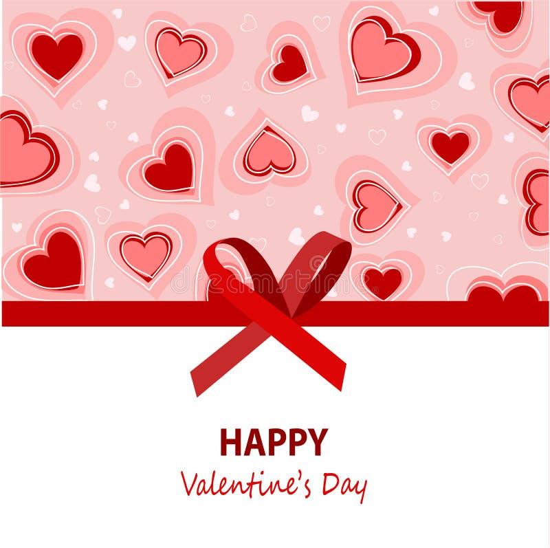 Giorno di biglietti di S. Valentino felice royalty illustrazione gratis