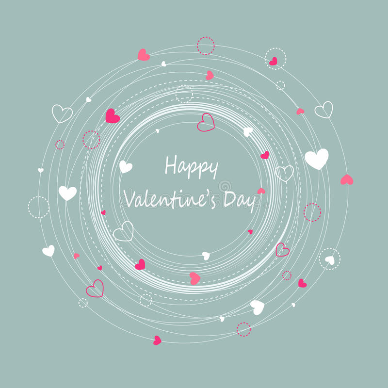 Giorno di biglietti di S. Valentino felice illustrazione di stock