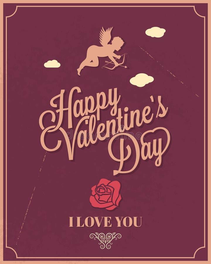 Giorno di biglietti di S. Valentino felice della struttura di festa royalty illustrazione gratis