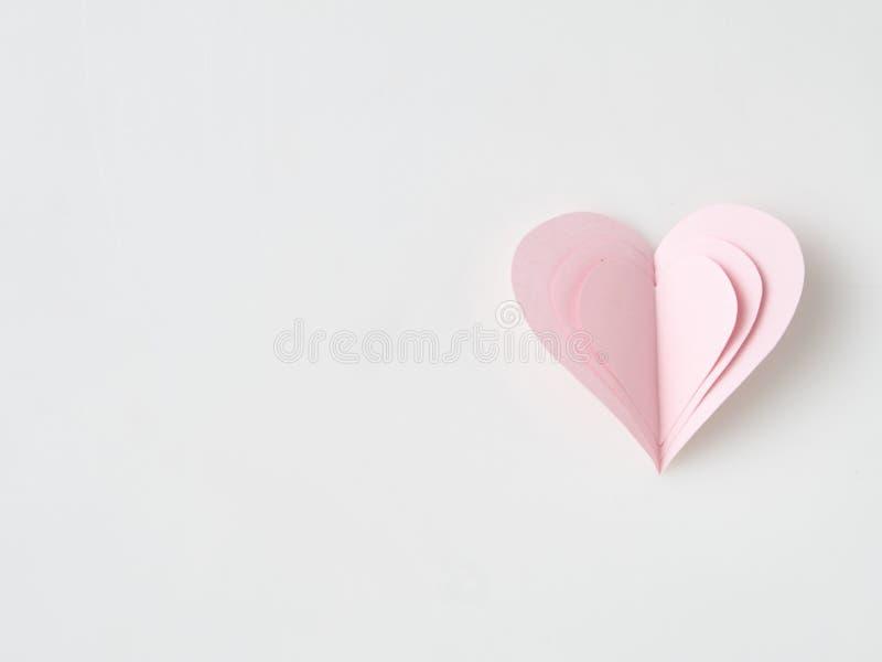 Giorno di biglietti di S. Valentino di carta del cuore fotografia stock libera da diritti