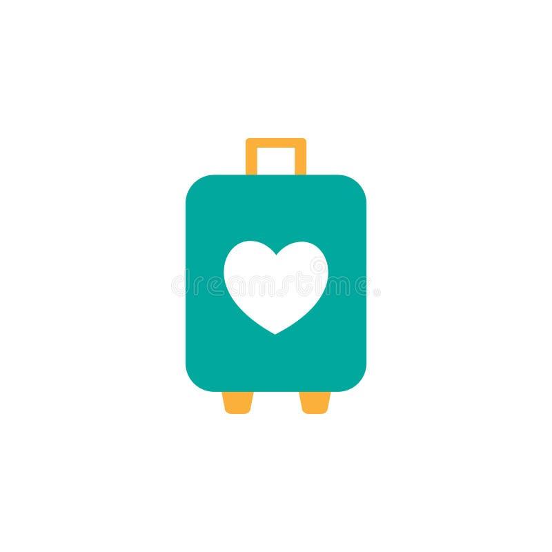 Giorno di biglietti di S. Valentino, icona di viaggio Elemento dell'icona di giorno di S. Valentino di web per i apps mobili di w royalty illustrazione gratis